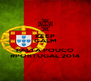 KEEP CALM  FALTA POUCO #PORTUGAL 2014 - Personalised Poster A4 size