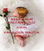 KEEP CALM FALTAN SOLO 9 DIAS PARA QUE NAZCA ANDREA - Personalised Poster A4 size