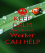 KEEP CALM Family Support Worker CAN HELP - Personalised Poster A4 size