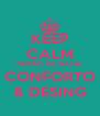 KEEP CALM FEIRÃO DE NATAL CONFORTO & DESING - Personalised Poster A4 size