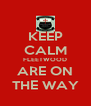 KEEP CALM FLEETWOOD ARE ON THE WAY - Personalised Poster A4 size
