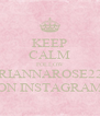 KEEP CALM FOLLOW BRIANNAROSE222 ON INSTAGRAM - Personalised Poster A4 size