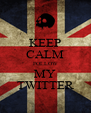 KEEP CALM FOLLOW MY TWITTER - Personalised Poster A4 size