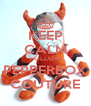 KEEP CALM FOLLOW PEPPERBOX COUTURE - Personalised Poster A4 size