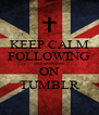 KEEP CALM FOLLOWING cinnieminnies ON TUMBLR - Personalised Poster A4 size