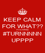 KEEP CALM FOR WHAT?? it's my birthday #TURNNNNN UPPPP - Personalised Poster A4 size
