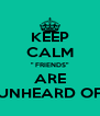 "KEEP CALM "" FRIENDS"" ARE UNHEARD OF - Personalised Poster A4 size"