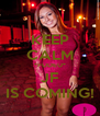 KEEP CALM *FUDEU* JF IS COMING! - Personalised Poster A4 size