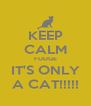 KEEP CALM FUDGE IT'S ONLY A CAT!!!!! - Personalised Poster A4 size