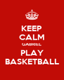 KEEP CALM GABRIEL PLAY BASKETBALL - Personalised Poster A4 size