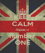 KEEP CALM Gajaaa ;x number ONE - Personalised Poster A4 size