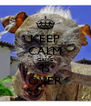 KEEP CALM GAME IS OVER - Personalised Poster A4 size