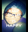 KEEP CALM GAYLE IS HAPPY - Personalised Poster A4 size