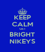 KEEP CALM GET BRIGHT NIKEYS - Personalised Poster A4 size