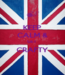 KEEP CALM & GET  CRAFTY  - Personalised Poster A4 size