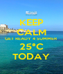 KEEP CALM GET READY 4 SUMMER 25°C TODAY - Personalised Poster A4 size
