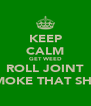 KEEP CALM GET WEED ROLL JOINT SMOKE THAT SHIT - Personalised Poster A4 size