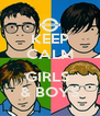 KEEP CALM  GIRLS  & BOYS - Personalised Poster A4 size