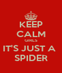 KEEP CALM GIRLS IT'S JUST A  SPIDER - Personalised Poster A4 size
