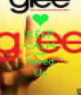 KEEP CALM Glee Saved Us - Personalised Poster A4 size