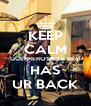 KEEP CALM GUERREROS DEL REY HAS UR BACK - Personalised Poster A4 size
