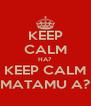 KEEP CALM HA? KEEP CALM MATAMU A? - Personalised Poster A4 size