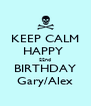 KEEP CALM HAPPY  22nd BIRTHDAY Gary/Alex - Personalised Poster A4 size