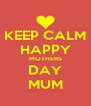KEEP CALM HAPPY MOTHERS DAY MUM - Personalised Poster A4 size