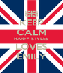 KEEP CALM HARRY STYLES LOVES EMILY - Personalised Poster A4 size