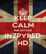 KEEP CALM has arrived INZPYRED HD - Personalised Poster A4 size