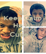 Keep Calm He A  Little  Cutie (:  <3  - Personalised Poster A4 size