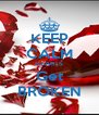 KEEP CALM HEARTS Get BROKEN - Personalised Poster A4 size