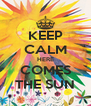 KEEP CALM HERE COMES THE SUN - Personalised Poster A4 size