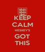 KEEP CALM HESKEY'S GOT THIS - Personalised Poster A4 size