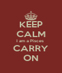 KEEP CALM I am a Pisces  CARRY ON - Personalised Poster A4 size
