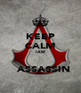 KEEP CALM  I AM    ASSASSIN - Personalised Poster A4 size
