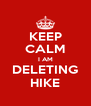 KEEP CALM I AM DELETING HIKE - Personalised Poster A4 size