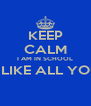 KEEP CALM I AM IN SCHOOL I CAN'T LIKE ALL YOUR PICS  - Personalised Poster A4 size