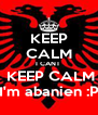 KEEP CALM I CANT   KEEP CALM I'm abanien :P - Personalised Poster A4 size