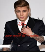 KEEP CALM I Follow  Justin Bieber on Instagram  - Personalised Poster A4 size