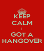 KEEP CALM I GOT A HANGOVER - Personalised Poster A4 size