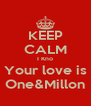 KEEP CALM I Kno Your love is One&Millon - Personalised Poster A4 size