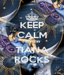 KEEP CALM I KNOW TIANA ROCKS - Personalised Poster A4 size