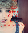 KEEP CALM i love juana martinez - Personalised Poster A4 size