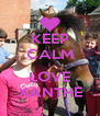 KEEP CALM I LOVE XANTHE - Personalised Poster A4 size