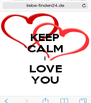 KEEP CALM I LOVE YOU - Personalised Poster A4 size