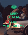 KEEP CALM I LOVE YOU EMETYY - Personalised Poster A4 size