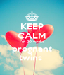 KEEP CALM I'm 20 weeks pregnant twins  - Personalised Poster A4 size