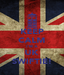 KEEP CALM I'M A UK SWIFTIE! - Personalised Poster A4 size