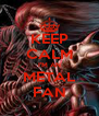 KEEP CALM I'M AN METAL FAN - Personalised Poster A4 size